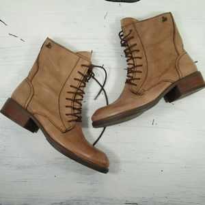 Sam Edelman Karla Tan Leather Ankle Boots